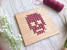 skull wood cross stitch board wall art - Fred And Bo