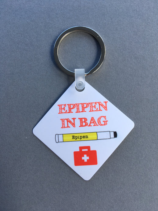 Epipen In Bag Medical Alert Keyring. - Fred And Bo