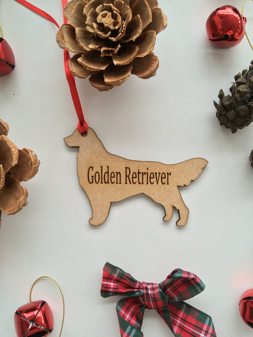 Personalised Dog Decoration - Golden Retriever - Fred And Bo