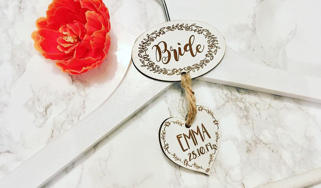 Wedding Garment Hanger- personalised - Fred And Bo