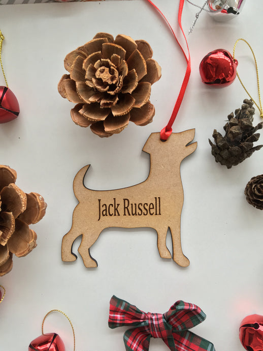 Personalised Dog Decoration - Jack Russell - Fred And Bo