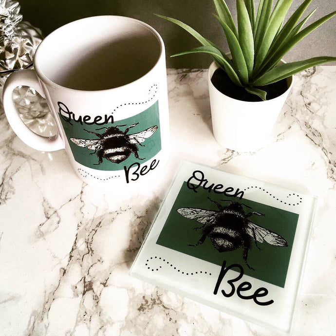 Mug & Coaster set- Queen Bee - Fred And Bo