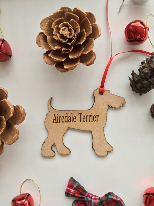 Personalised Dog Decoration - Airedale Terrier - Fred And Bo