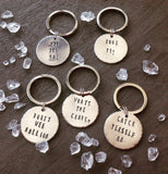What's the craic - Belfast slang - hand stamped key chain - Fred And Bo