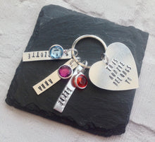 This Daddy belongs to- Star keyring with birthstone charms - Fred And Bo