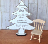 Christmas in heaven plaque and chair - Fred And Bo