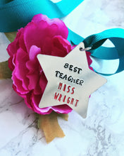 Personalised Medal - Best Teacher - Thank You Teacher Gift - Fred And Bo