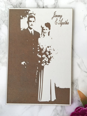 Engraved photo - Fred And Bo