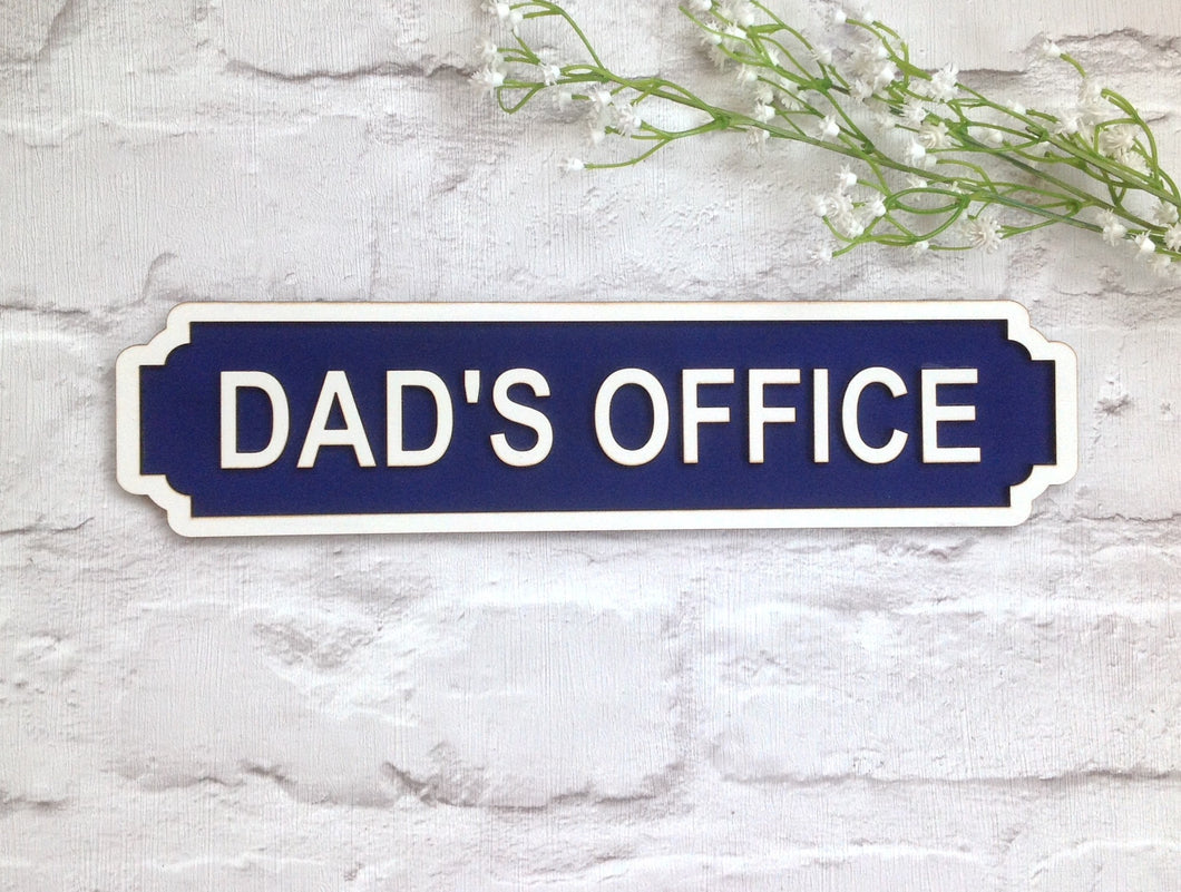 Dad S Office Railway Vintage Style Personalised Name