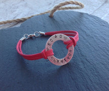 SCAD SURVIVOR Medical bracelet - stamped washer bracelet - Fred And Bo