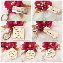 Gin makes me sin - gin lover- hand stamped metal key ring - Fred And Bo