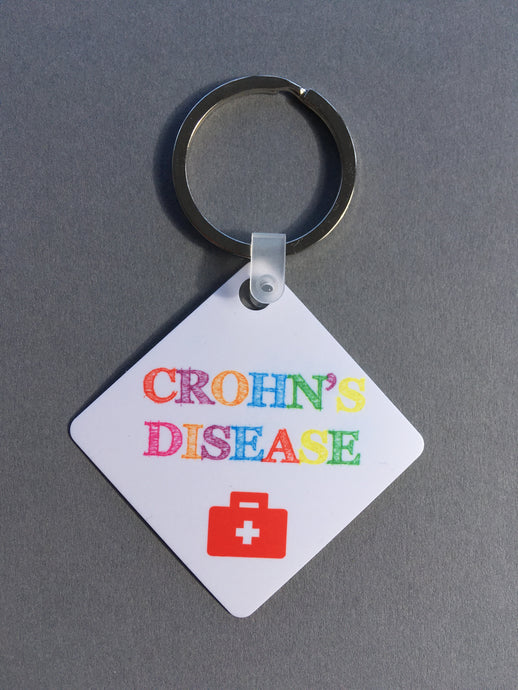 Crohn's Disease Medical Alert Keyring. - Fred And Bo