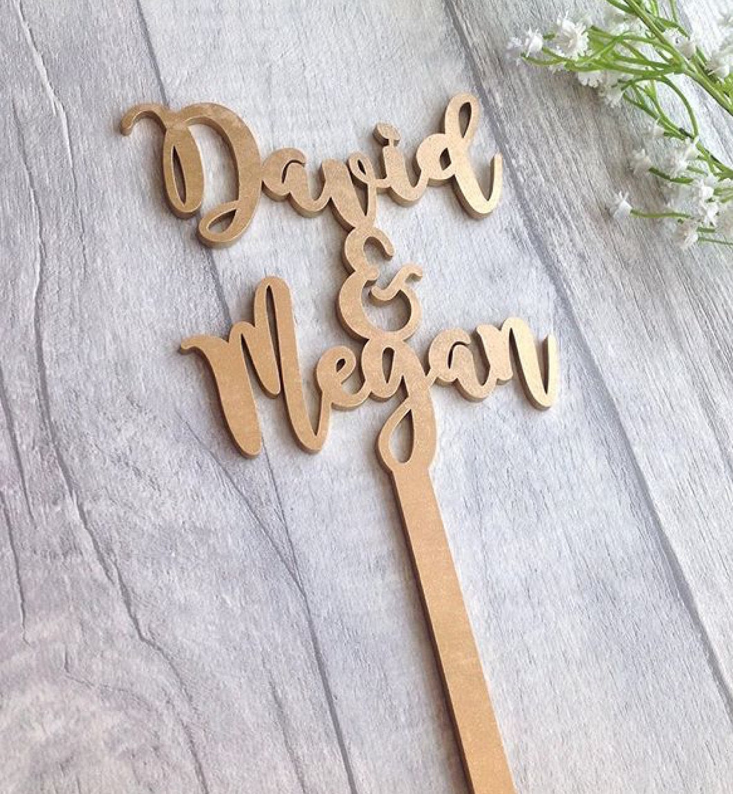 Personalised Cake Topper Wedding Birthday Fred Bo Fred And Bo