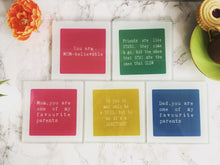 Mum, you are one of my favourite parents- parents- printed glass coaster - Fred And Bo
