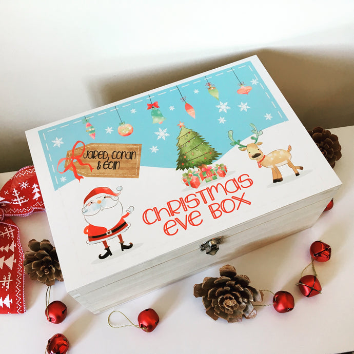 Personalised Christmas Eve Box- printed colour - Fred And Bo