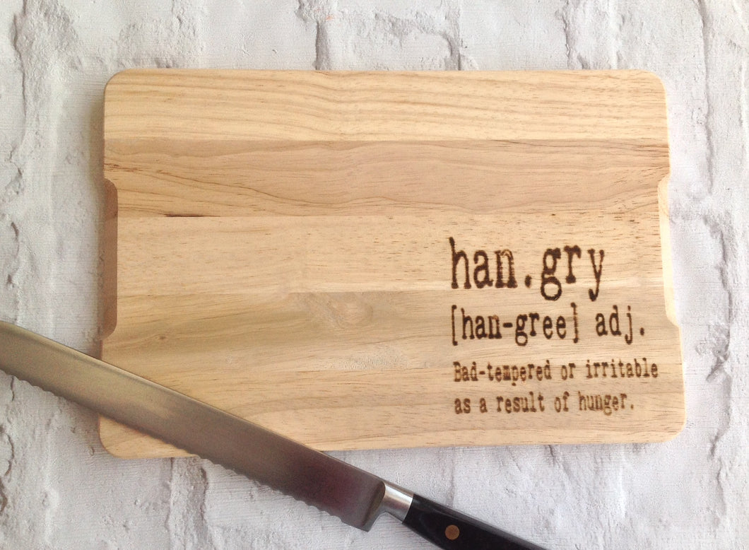 Engraved chopping board- Hangry - Fred And Bo