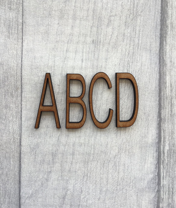 Arial font MDF letters - Fred And Bo