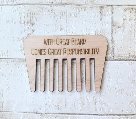Beard comb wooden gift for men - Fred And Bo