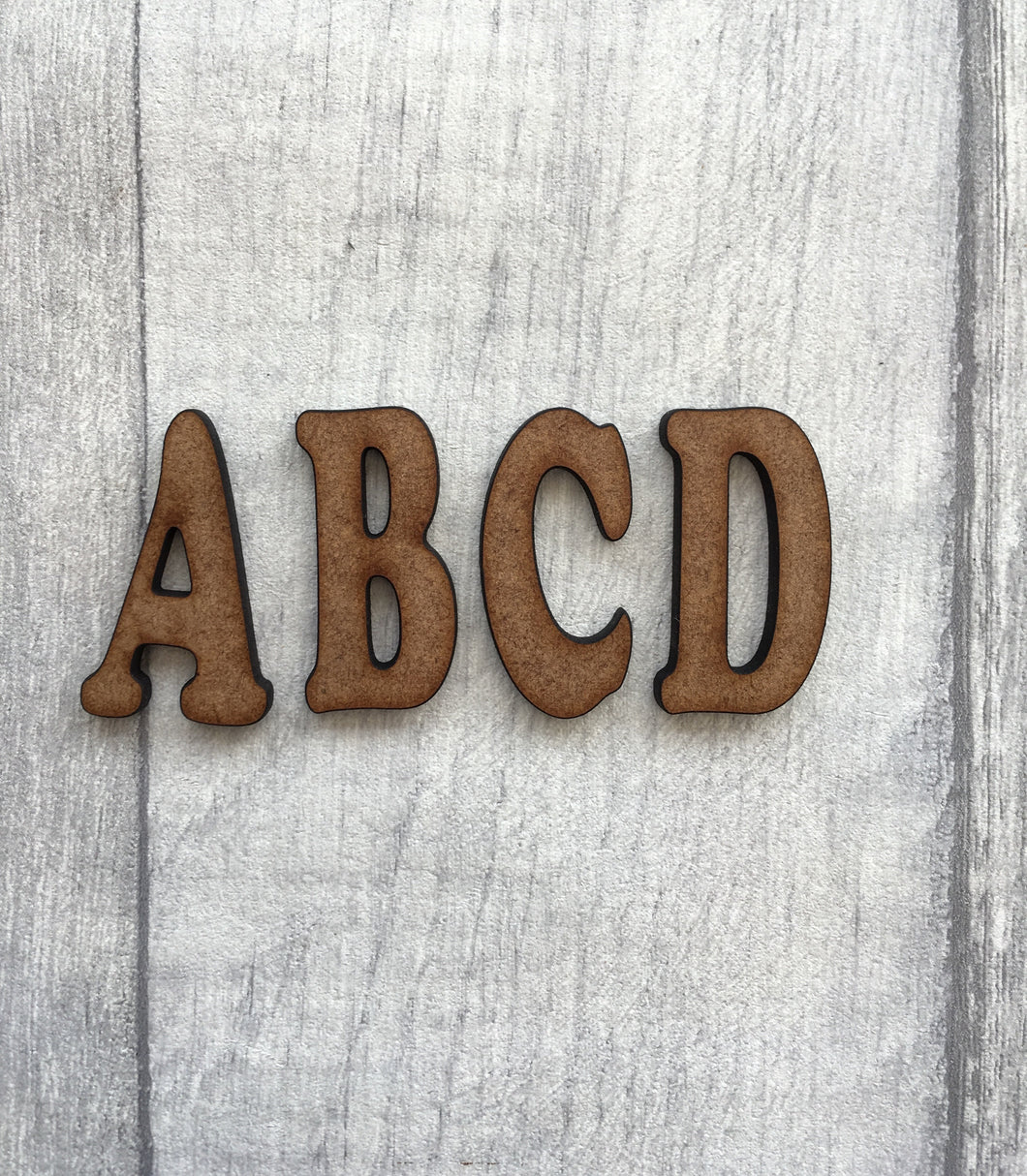 Cooper font MDF letters - Fred And Bo