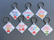 Nut allergy Medical Alert Keyring - Fred And Bo