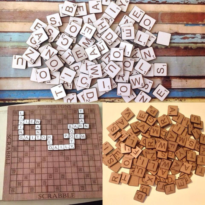 Scrabble style wooden tiles for crafting - Fred And Bo