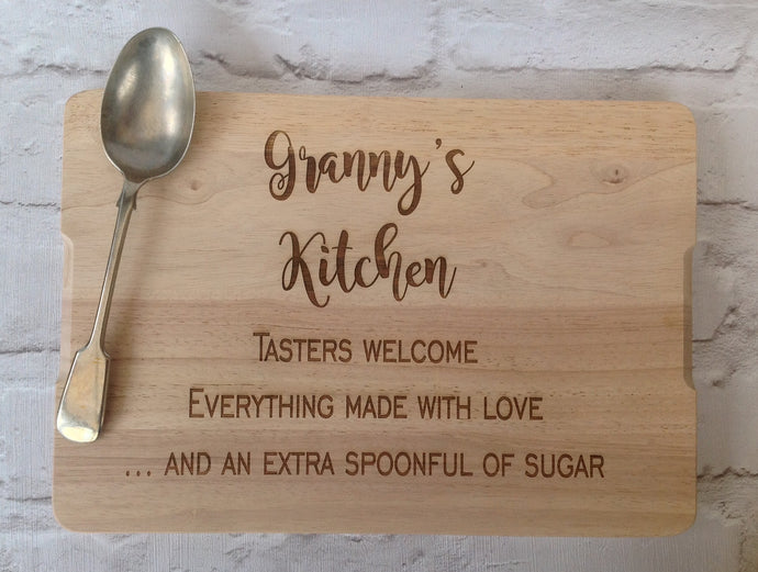 Personalised chopping board- granny's kitchen - Fred And Bo