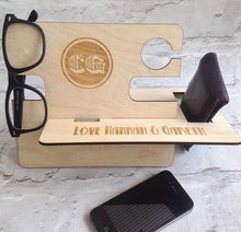Bedside caddy / mobile phone valet - Personalised - Fred And Bo