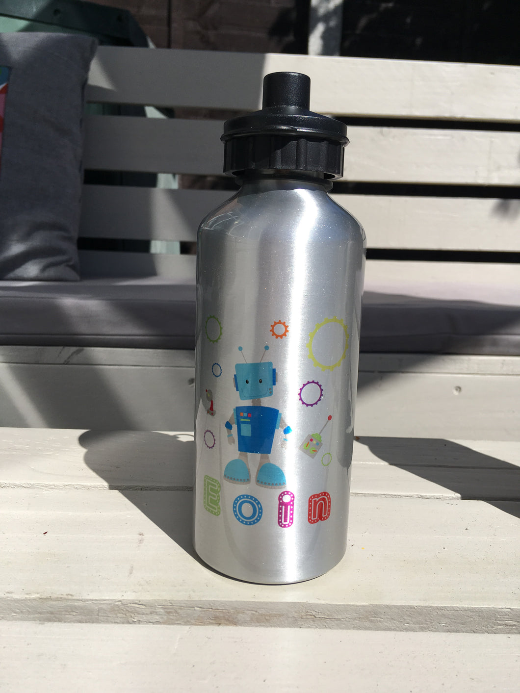 c68d4b372b Robot Personalised Aluminium water bottle - Fred And Bo