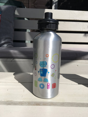 Robot Personalised Aluminium water bottle - Fred And Bo