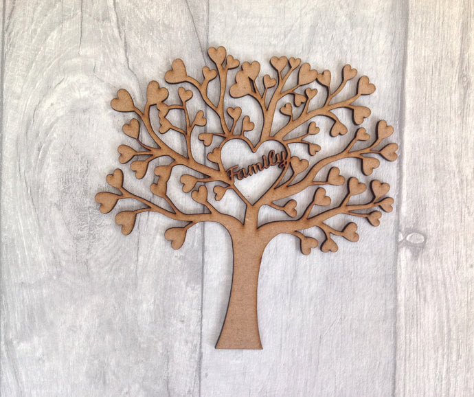 Laser cut family tree for crafters family heart - Fred And Bo