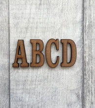Clarendon font MDF letters - Fred And Bo