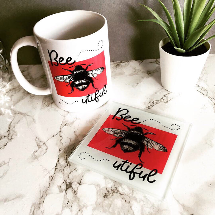 Mug & Coaster set- Bee utiful - Fred And Bo