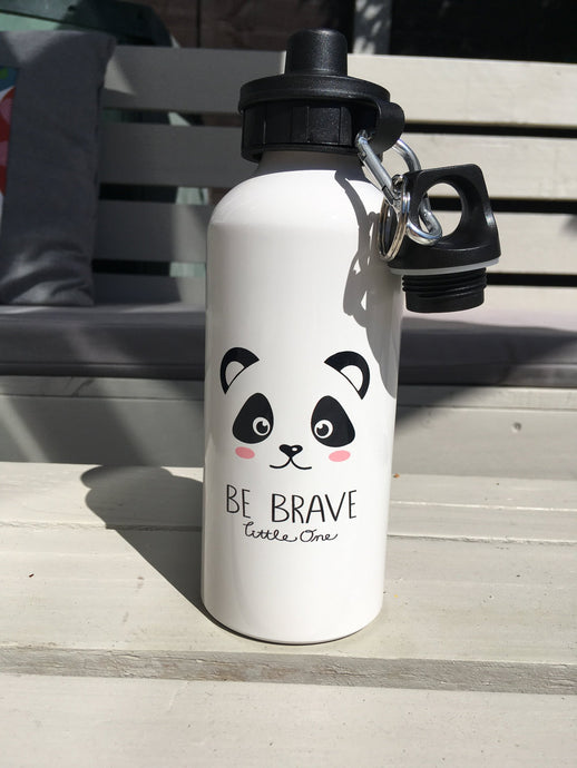 Dream big little one - panda Face Aluminium water bottle - Fred And Bo