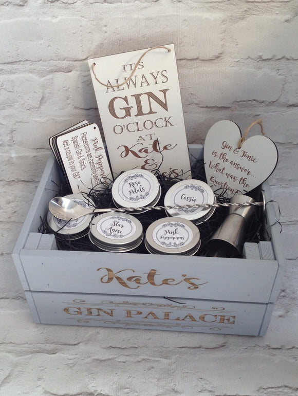 Infuse-A-Gin - personalised gin botanicals box - FANCY FONT