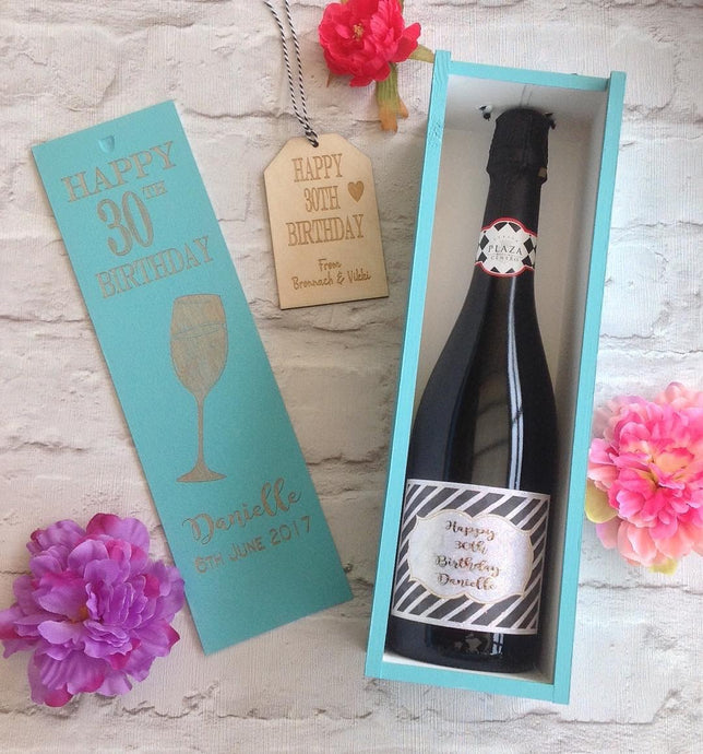 Wine Box - Personalised hand painted engraved birthday gift - Fred And Bo