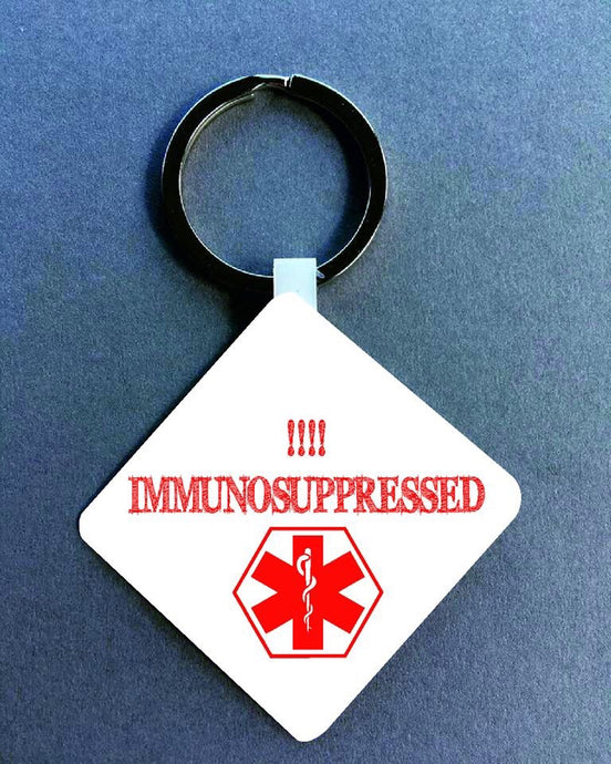 Immunosuppressed Medical Alert Keyring. - Fred And Bo