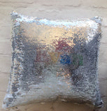 Magical sequins sensory cushion- personalised comic style mermaid cushion - Fred And Bo