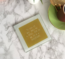 Shed sanctuary - printed glass coaster - Fred And Bo