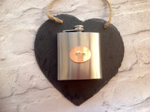 HIP FLASK - grooms gift - Best man gift - personalised hand stamped hip flask - Fred And Bo