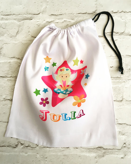 Personalised drawstring gym bag - Fairy design - Fred And Bo