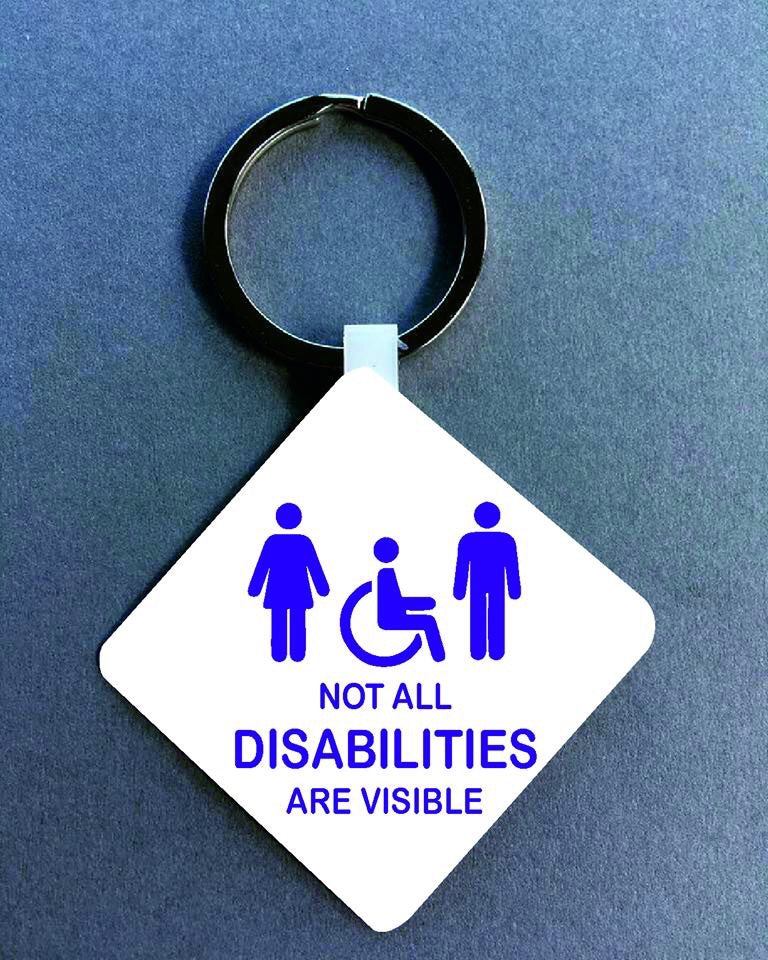 Not all disabilities are visible Medical Alert Keyring. - Fred And Bo