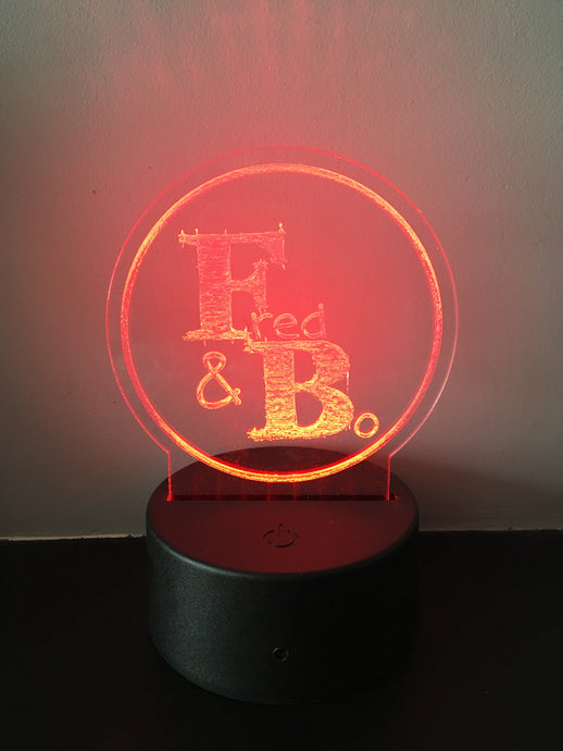 Personalised colour changing LED Night Light with remote control - Fred And Bo