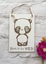 Panda born to be wild engraved plaque - Fred And Bo