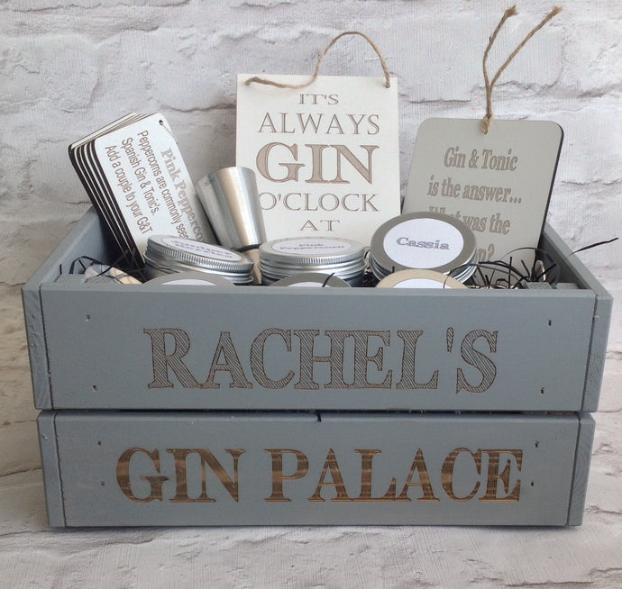 Infuse-A-Gin - personalised gin botanicals box - SKETCH FONT - Fred And Bo