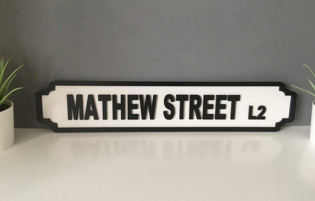 Street name and postcode - Railway Station Vintage Style. Personalised - Fred And Bo