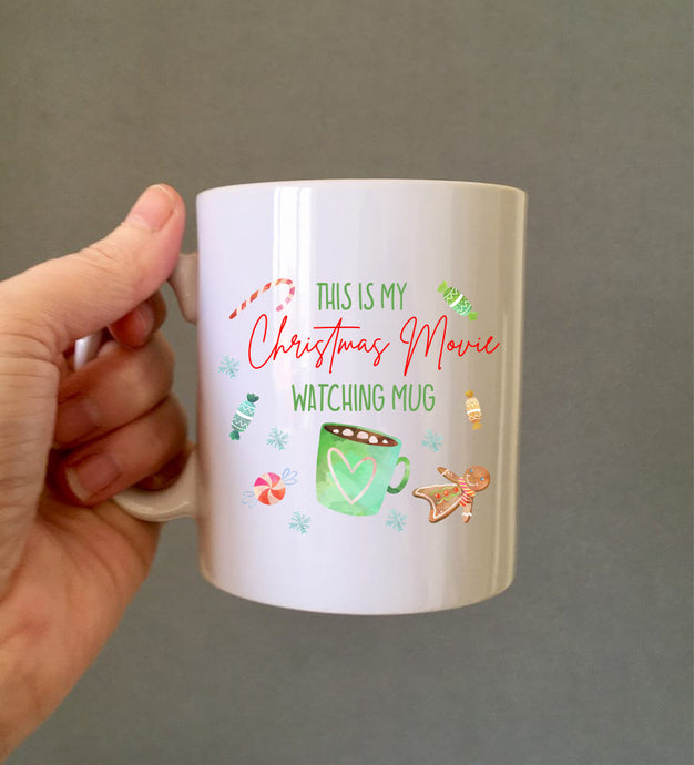 My Christmas movie watching mug- secret Santa gift ceramic mug