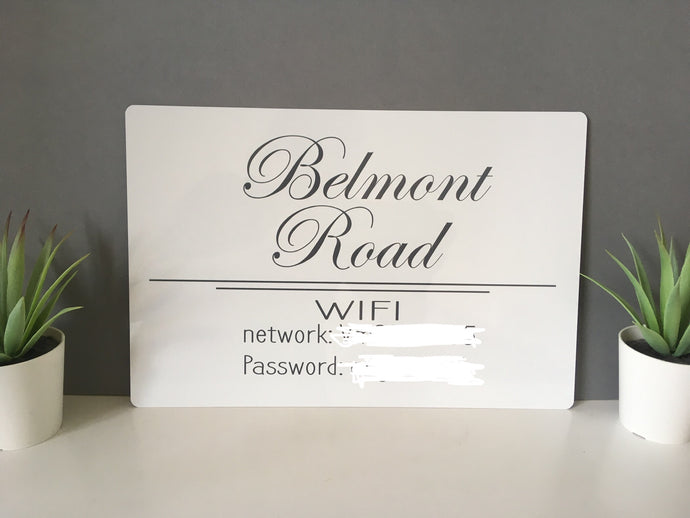 Personalised WIFI Sign Plaque - Fred And Bo