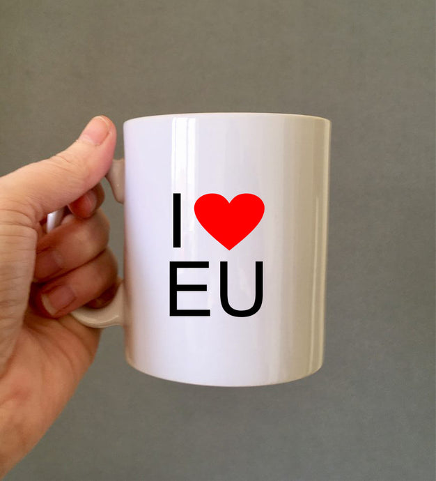 I love EU ceramic mug- political humour