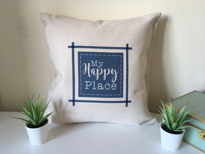My Happy Place printed cushion - Fred And Bo