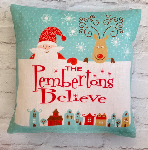 The ....... Believe - personalised cushion - Fred And Bo